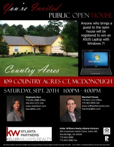 109 Country Acres Open House Flyer