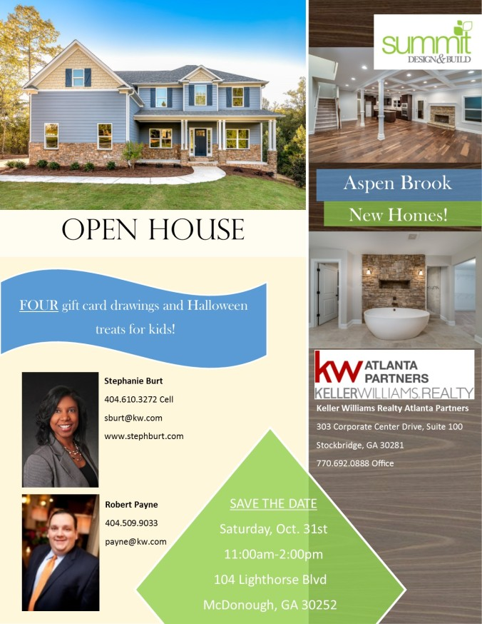 ASPEN BROOK OPEN HOUSE FLYER